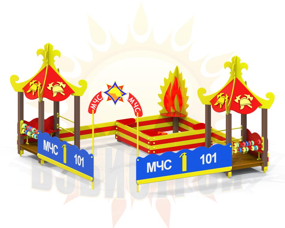 Pesochnyj dvorik MCHS speredi s logo