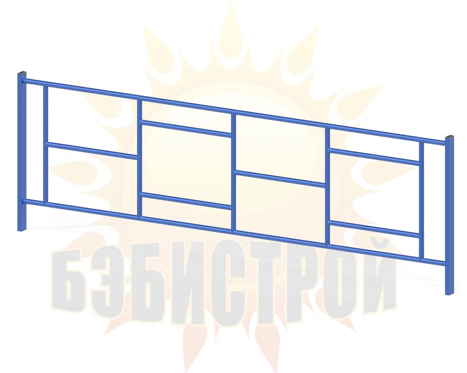 Zabor Geometriya 2000mm sinij na sajt