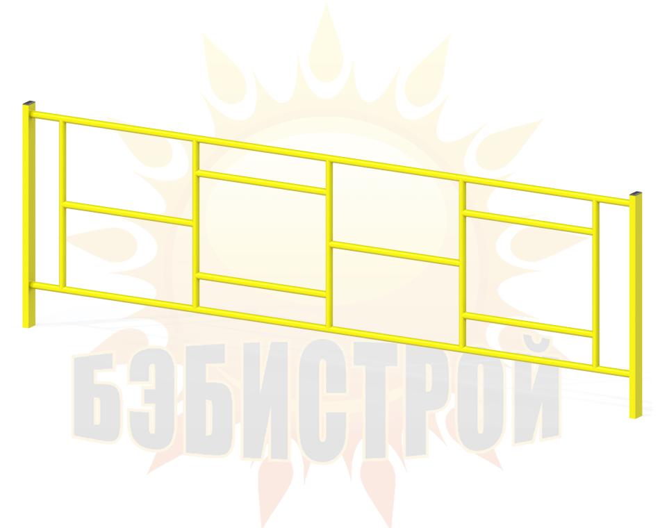 Zabor Geometriya 2000mm zheltyj na sajt